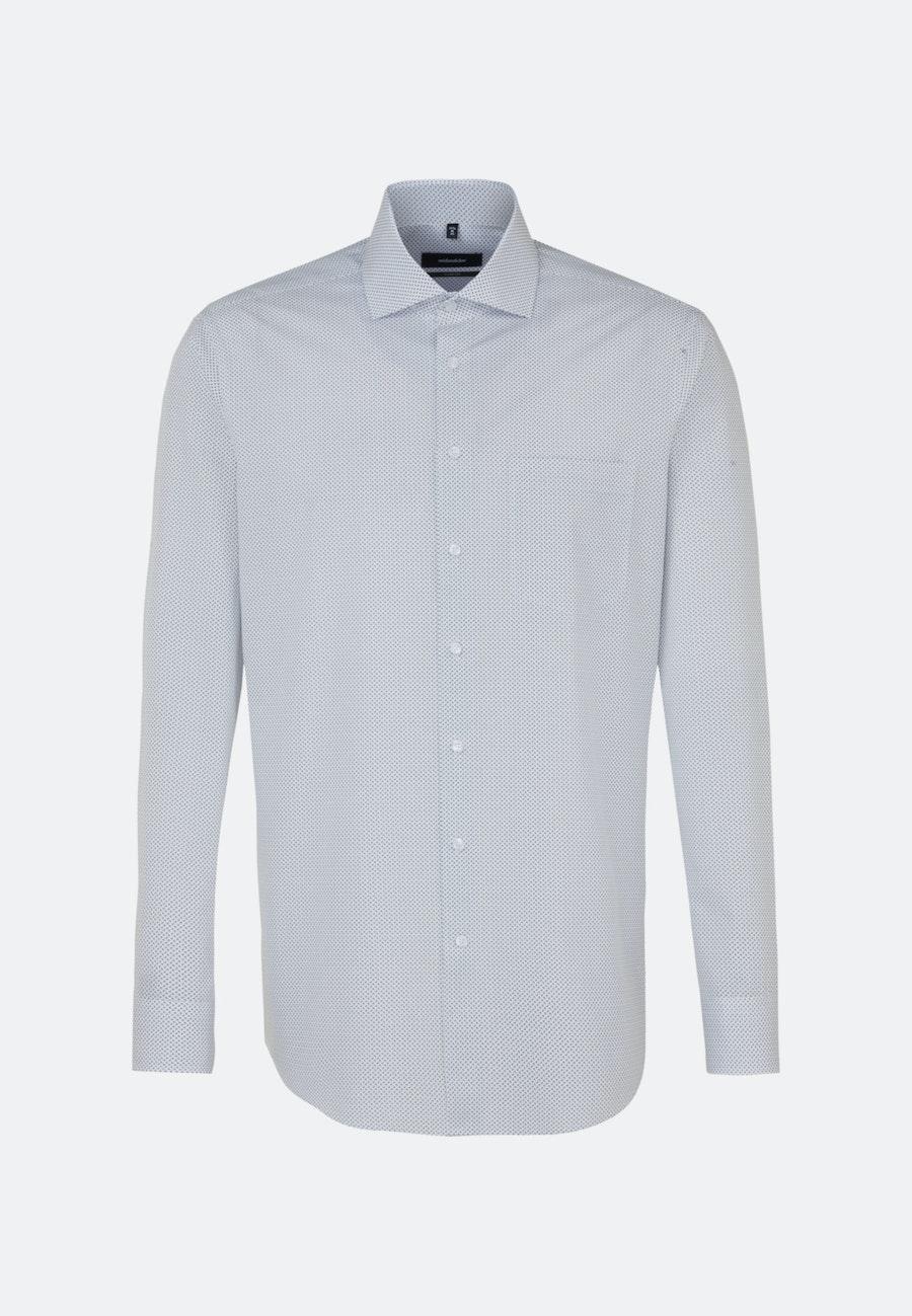 Bügelleichtes Popeline Business Hemd in Comfort mit Kentkragen und extra langem Arm in Weiß |  Seidensticker Onlineshop