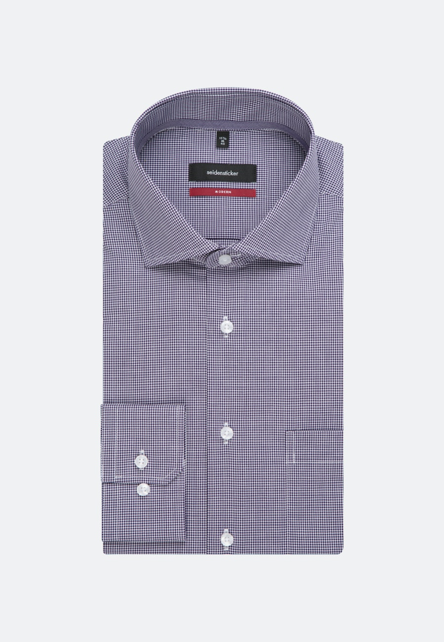 Non-iron Popeline Business Shirt in Regular with Kent-Collar in Purple |  Seidensticker Onlineshop