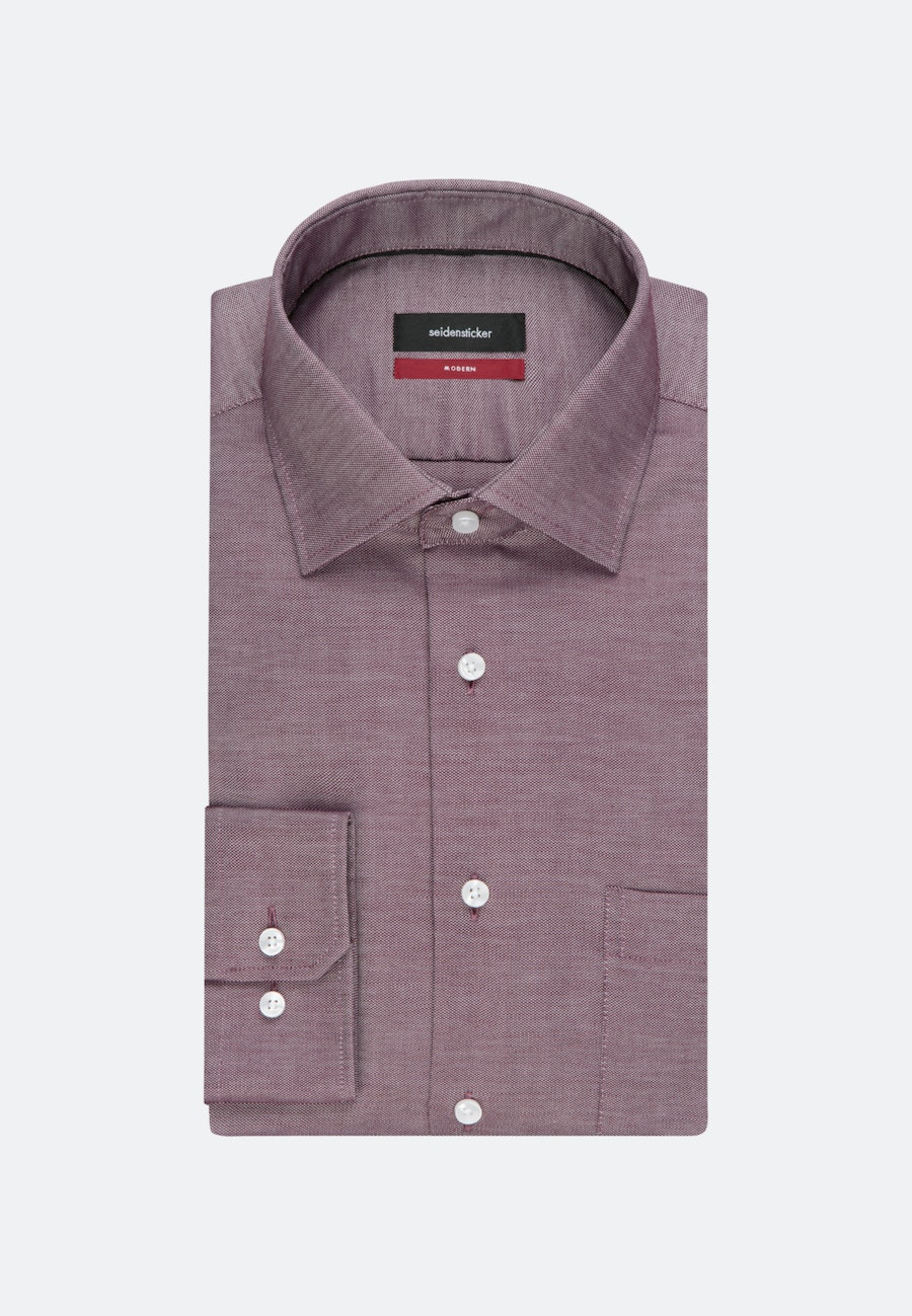 Non-iron Struktur Business Shirt in Regular with Kent-Collar in Red |  Seidensticker Onlineshop