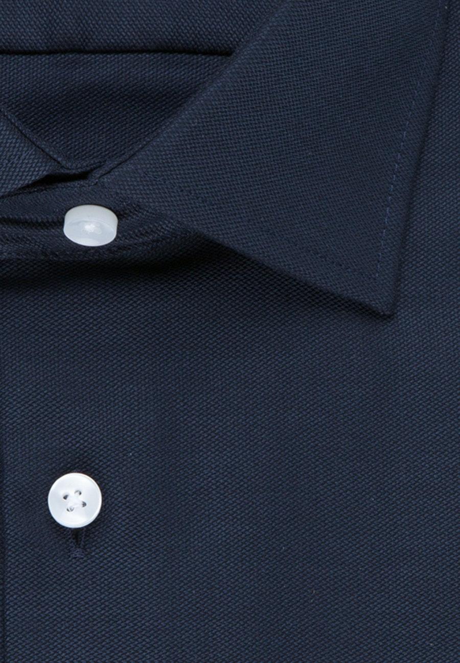 Non-iron Structure Business Shirt in Regular with Kent-Collar in Dark blue |  Seidensticker Onlineshop