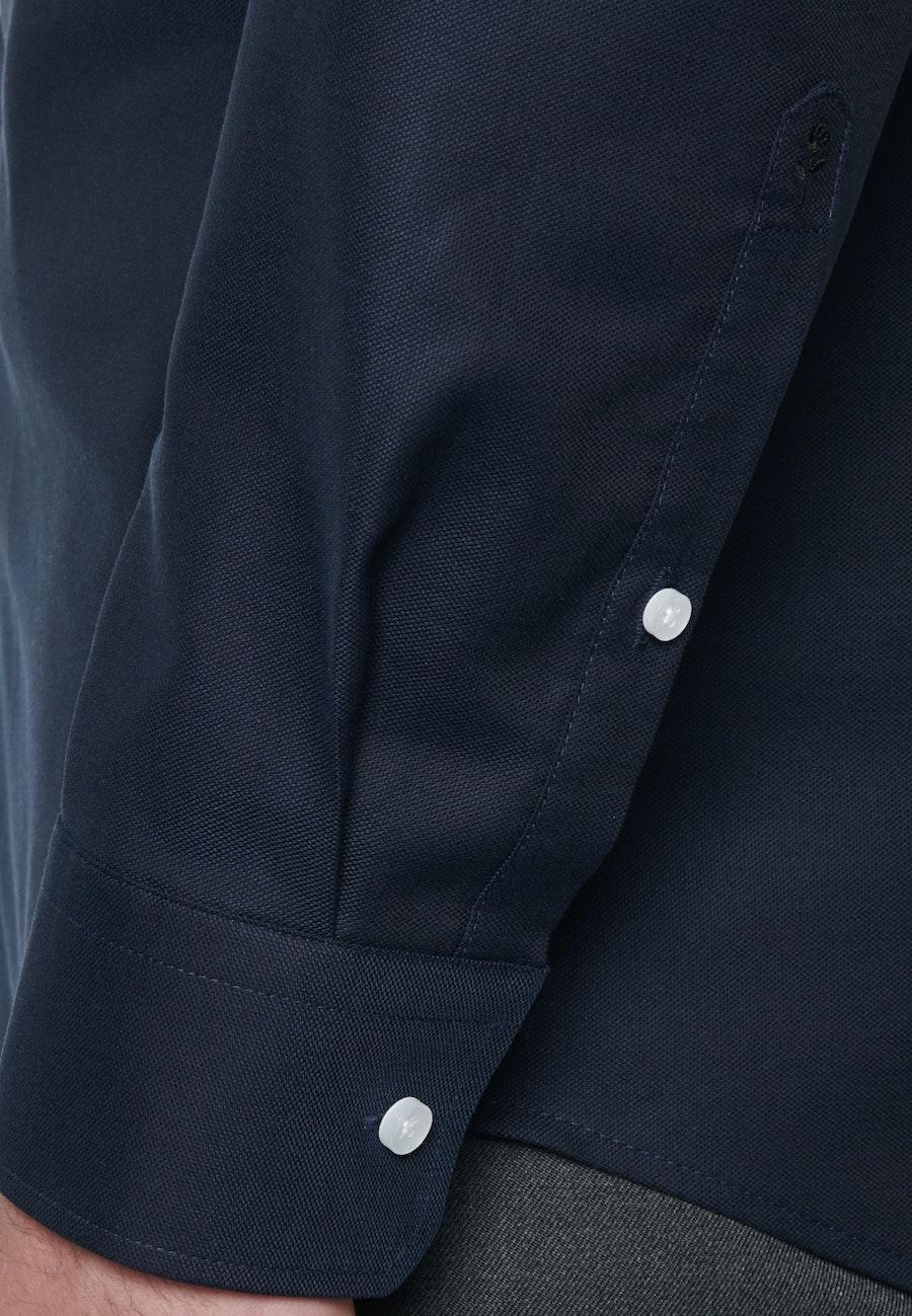 Bügelfreies Struktur Business Hemd in Regular mit Kentkragen in Dunkelblau    Seidensticker Onlineshop