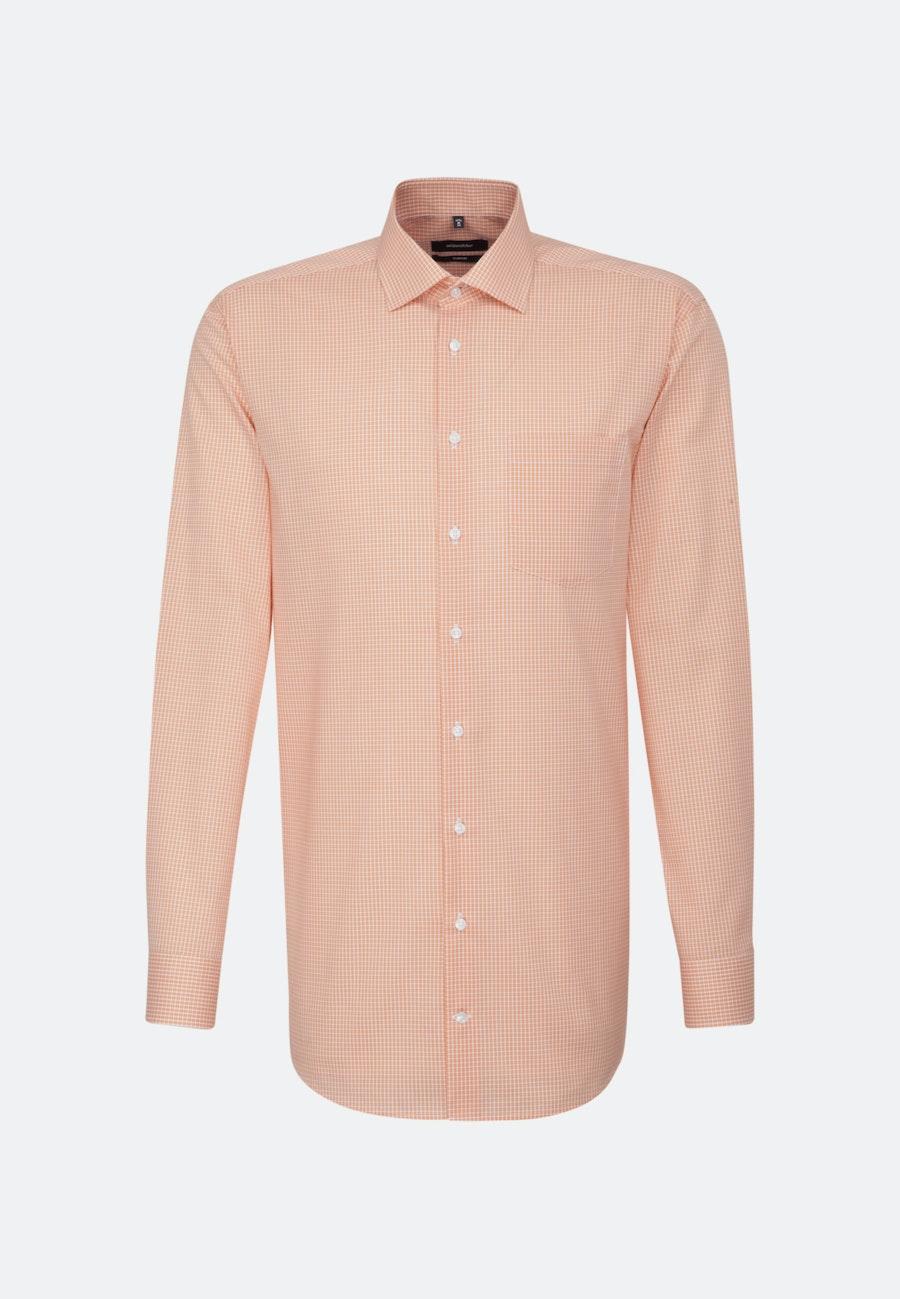 Bügelfreies Popeline Business Hemd in Comfort mit Kentkragen und extra langem Arm in Orange |  Seidensticker Onlineshop