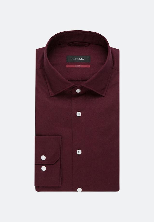 Easy-iron Twill Business Shirt in Regular with Kent-Collar in Red    Seidensticker Onlineshop