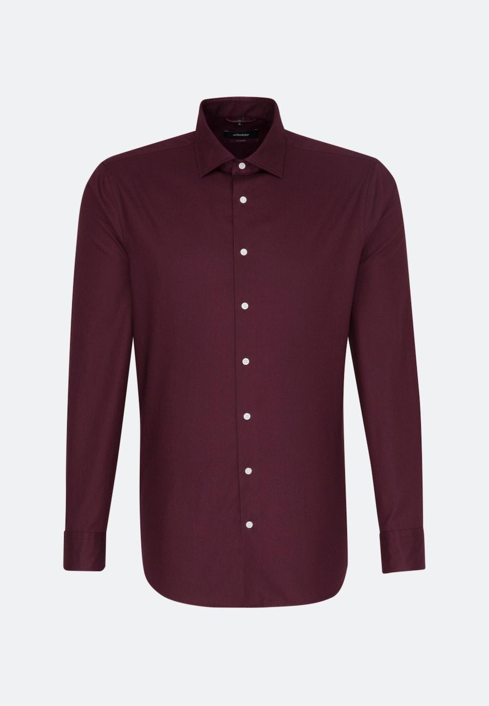 Bügelleichtes Twill Business Hemd in Regular mit Kentkragen in Rot |  Seidensticker Onlineshop