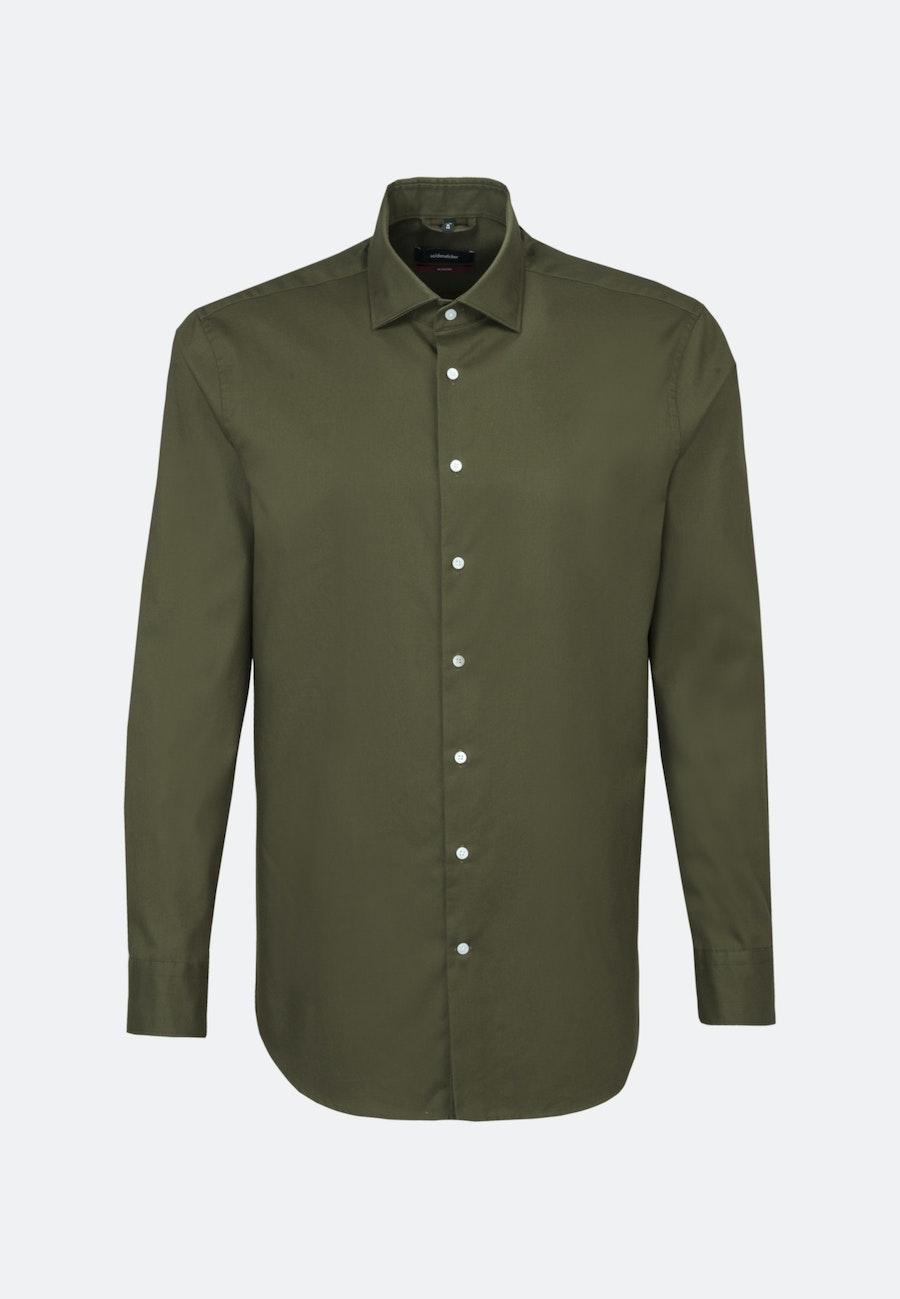 Easy-iron Twill Business Shirt in Regular with Kent-Collar in Green    Seidensticker Onlineshop