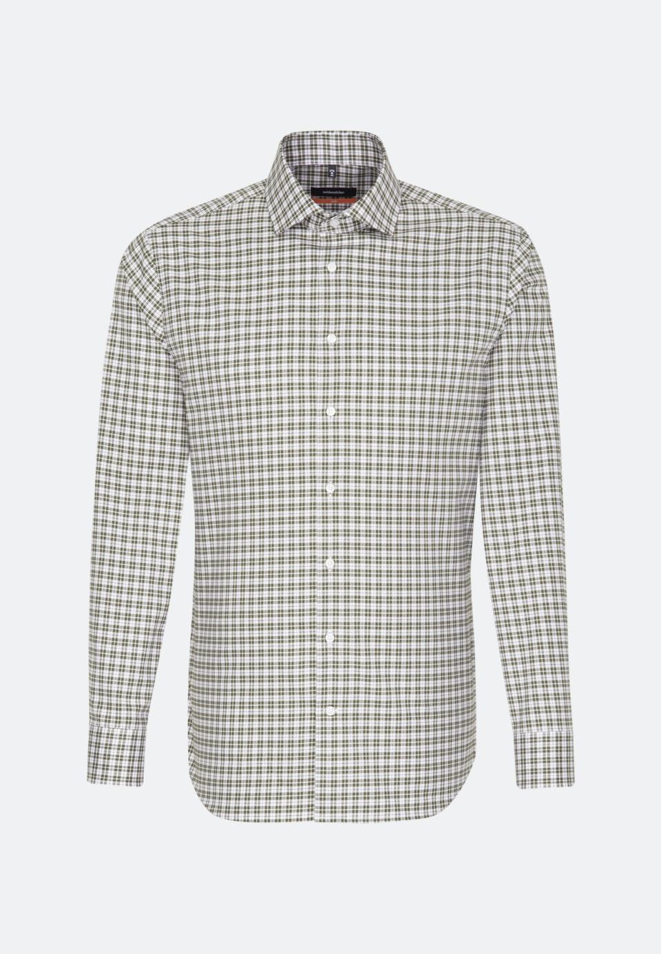 Bügelfreies Twill Business Hemd in Slim mit Kentkragen in Grün |  Seidensticker Onlineshop