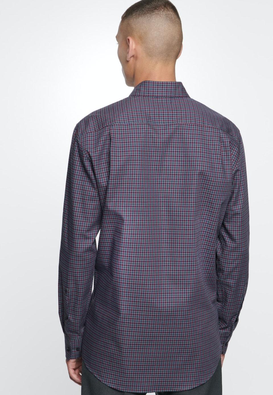 Bügelleichtes Twill Business Hemd in Regular mit Button-Down-Kragen in Rot    Seidensticker Onlineshop