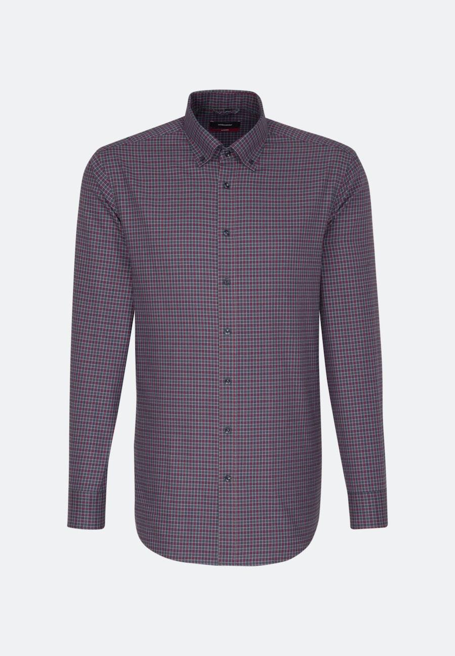 Easy-iron Twill Business Shirt in Regular with Button-Down-Collar in Red |  Seidensticker Onlineshop
