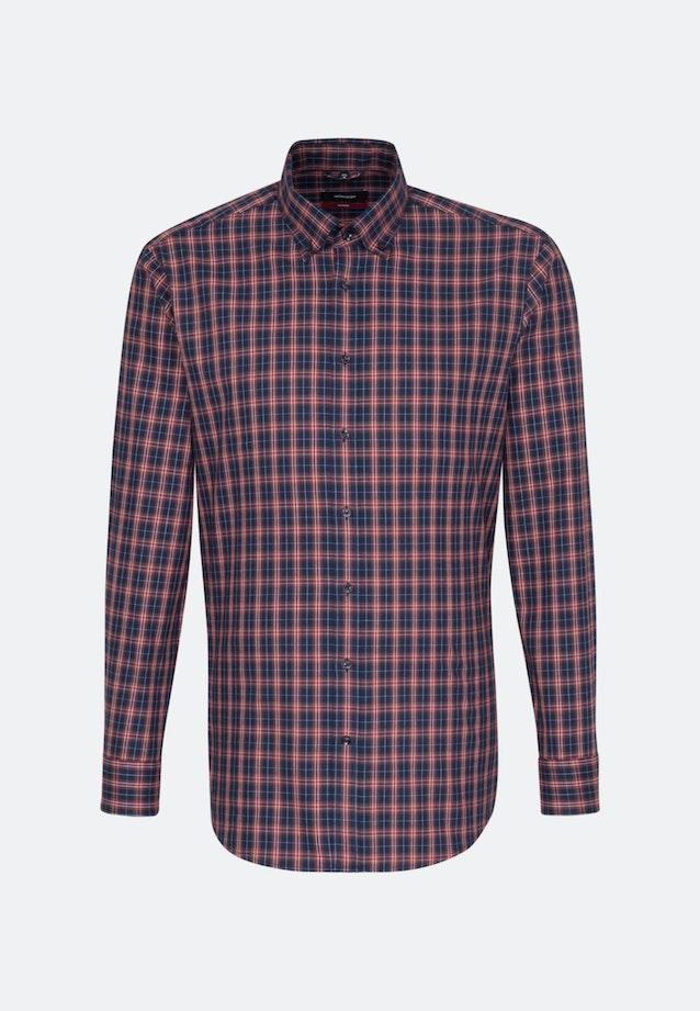 Bügelleichtes Twill Business Hemd in Regular mit Button-Down-Kragen in Dunkelblau    Seidensticker Onlineshop