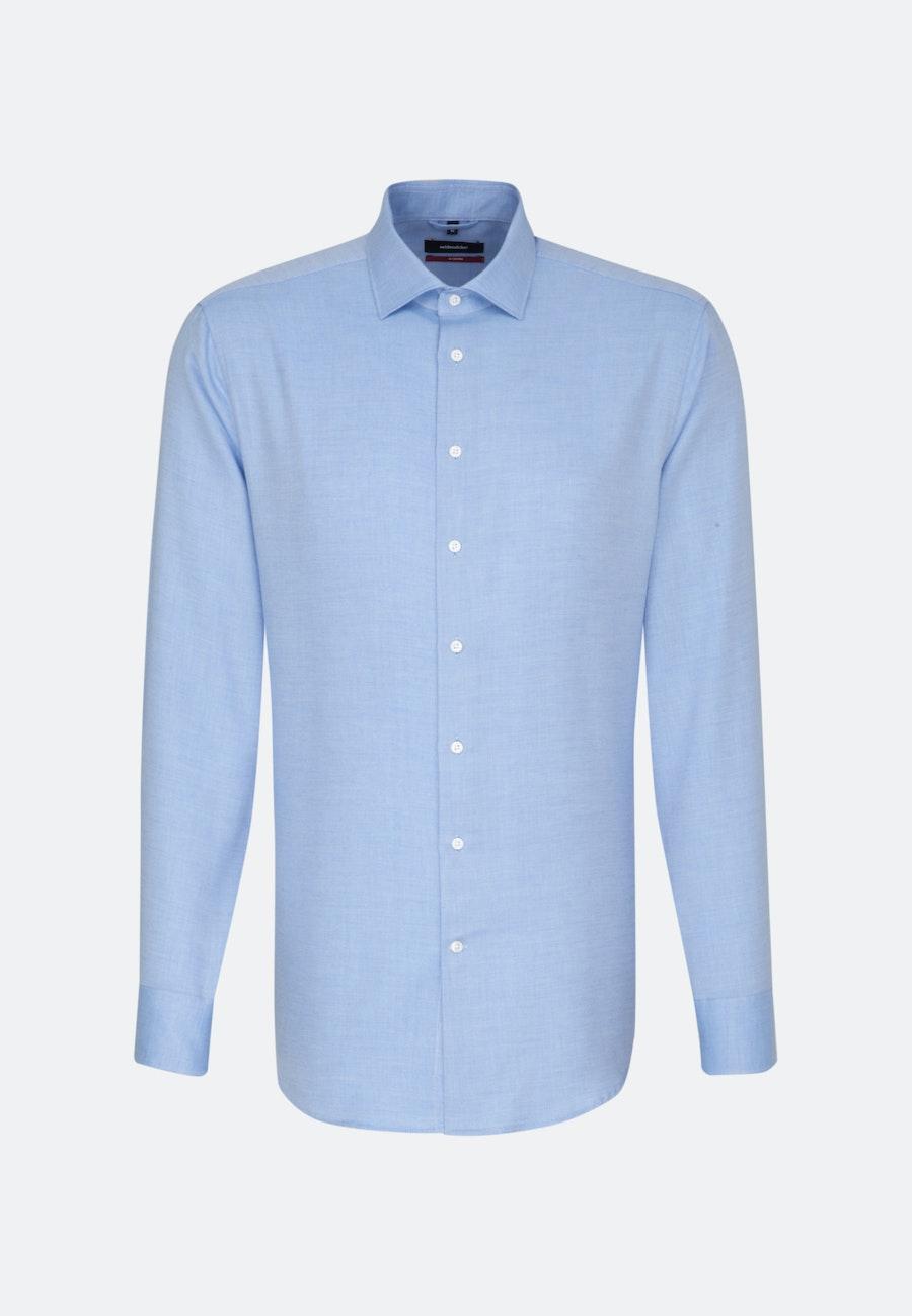 Easy-iron Twill Business Shirt in Regular with Kent-Collar in Light blue |  Seidensticker Onlineshop