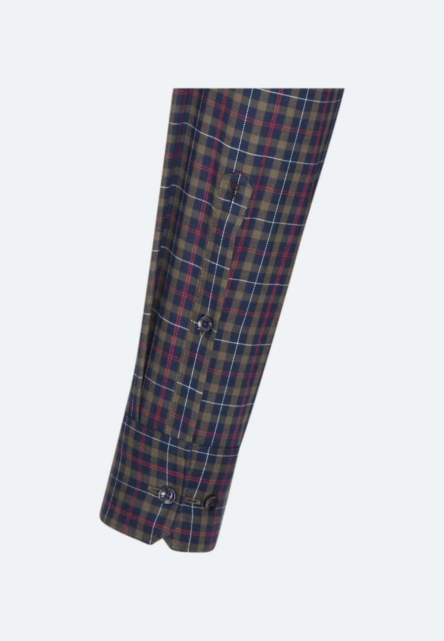 Bügelleichtes Twill Business Hemd in Shaped mit Button-Down-Kragen in Dunkelblau |  Seidensticker Onlineshop