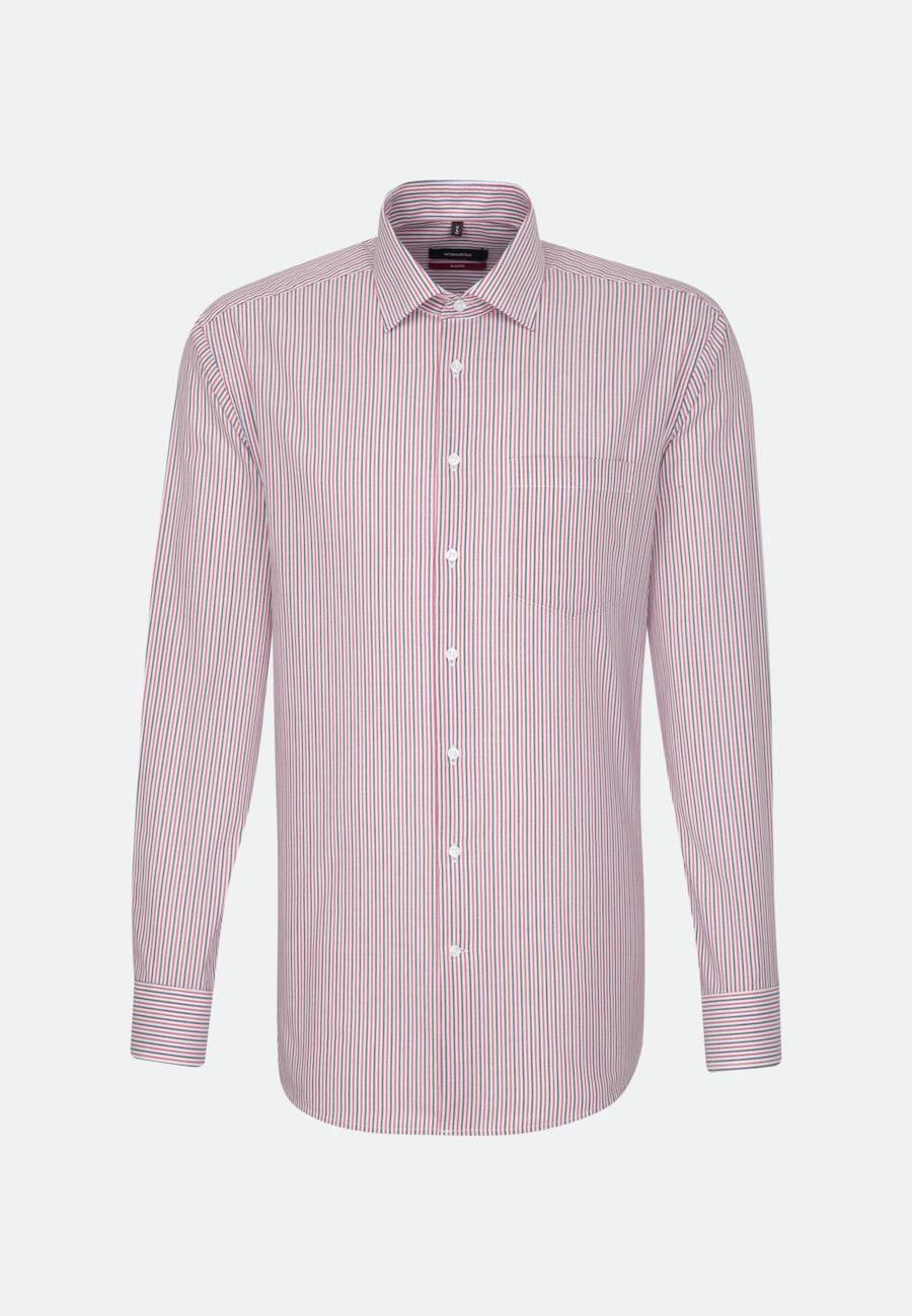 Non-iron Poplin Business Shirt in Regular with Kent-Collar in Red |  Seidensticker Onlineshop