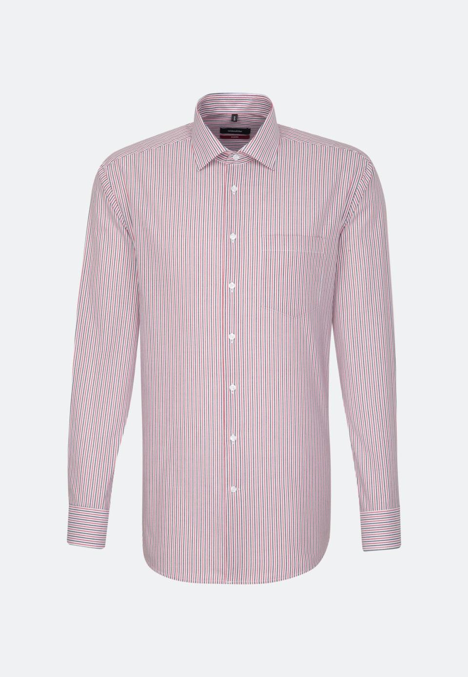 Bügelfreies Popeline Business Hemd in Regular mit Kentkragen in Rot |  Seidensticker Onlineshop