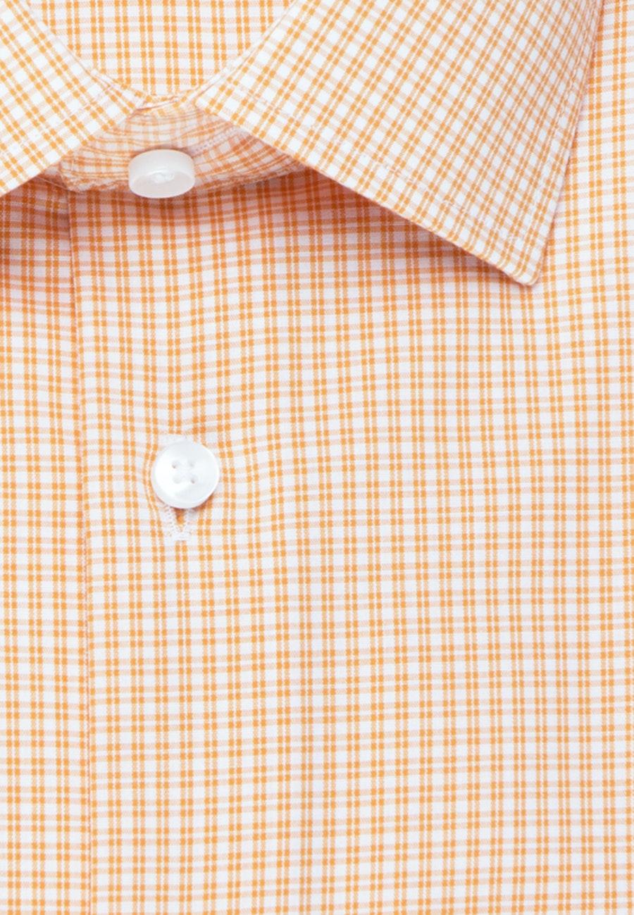 Bügelfreies Popeline Business Hemd in Shaped mit Kentkragen und extra langem Arm in Orange |  Seidensticker Onlineshop