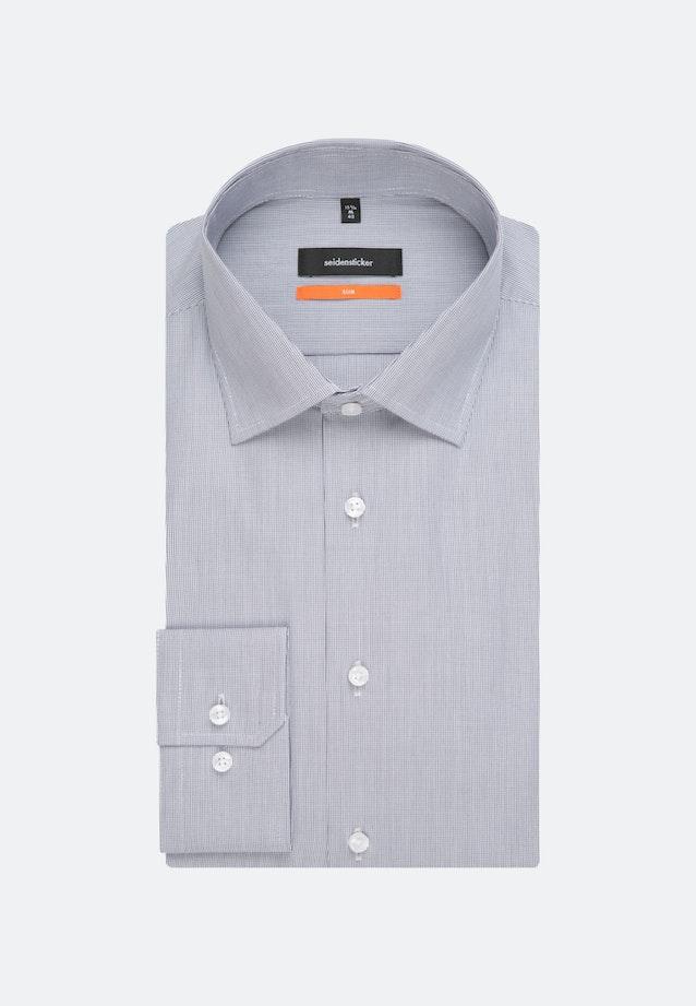 Popeline Business Hemd in Slim mit Kentkragen und extra kurzem Arm in Dunkelblau |  Seidensticker Onlineshop
