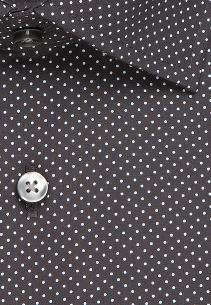 Easy-iron Poplin Business Shirt in Slim with Kent-Collar and extra short sleeve in Grey    Seidensticker Onlineshop