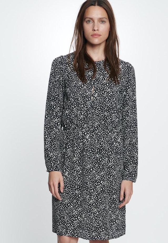 Krepp Midi Dress made of 100% Viscose in Grey |  Seidensticker Onlineshop