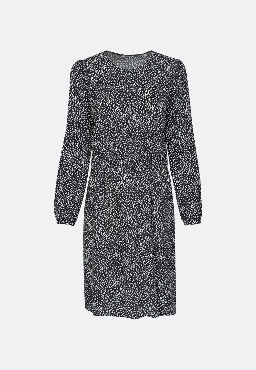 Krepp Midi Kleid aus 100% Viskose in Grau |  Seidensticker Onlineshop