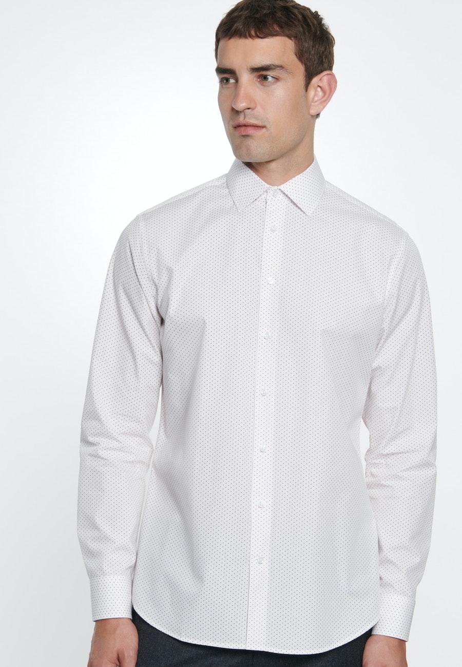 Popeline Business Hemd in Shaped mit Kentkragen in Weiß |  Seidensticker Onlineshop