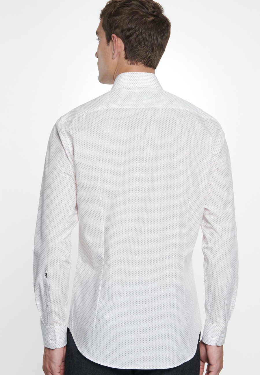 Easy-iron Poplin Business Shirt in Shaped with Kent-Collar in White |  Seidensticker Onlineshop