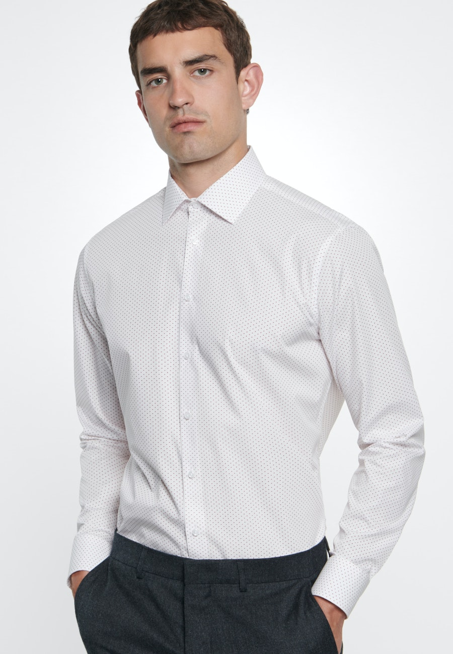 Easy-iron Popeline Business Shirt in Shaped with Kent-Collar in White |  Seidensticker Onlineshop