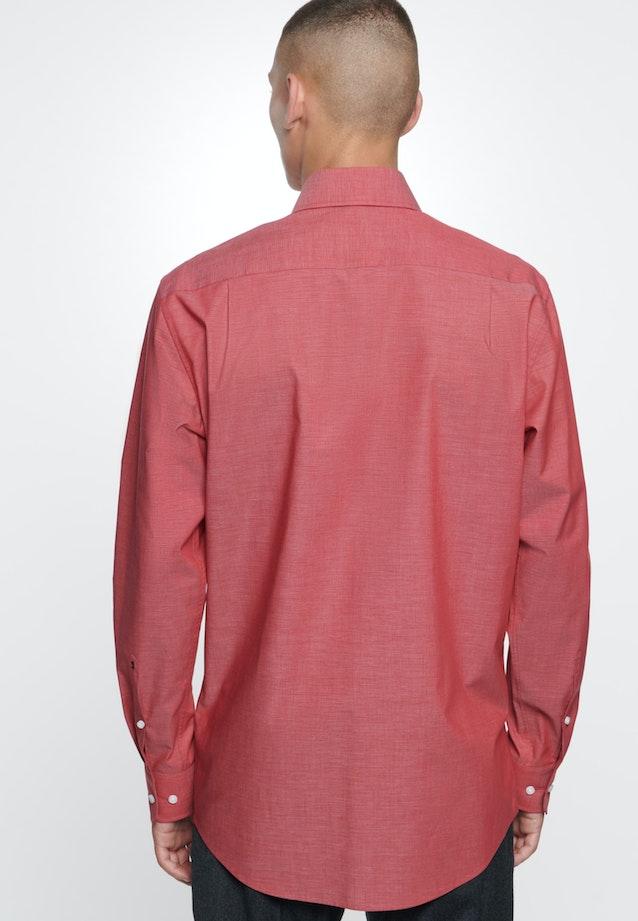 Non-iron Fil a fil Business Shirt in Regular with Kent-Collar in Red    Seidensticker Onlineshop