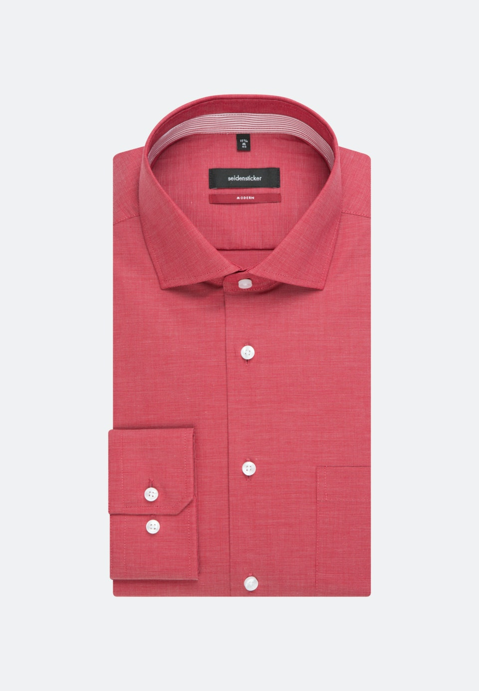 Non-iron Fil a fil Business Shirt in Regular with Kent-Collar in Red |  Seidensticker Onlineshop