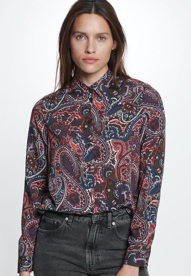 Voile Hemdbluse aus 100% Viskose in Rot    Seidensticker Onlineshop