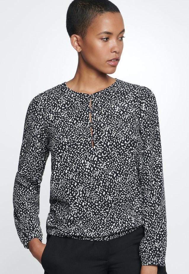 Krepp Shirt Blouse made of 100% Viscose in Grey |  Seidensticker Onlineshop