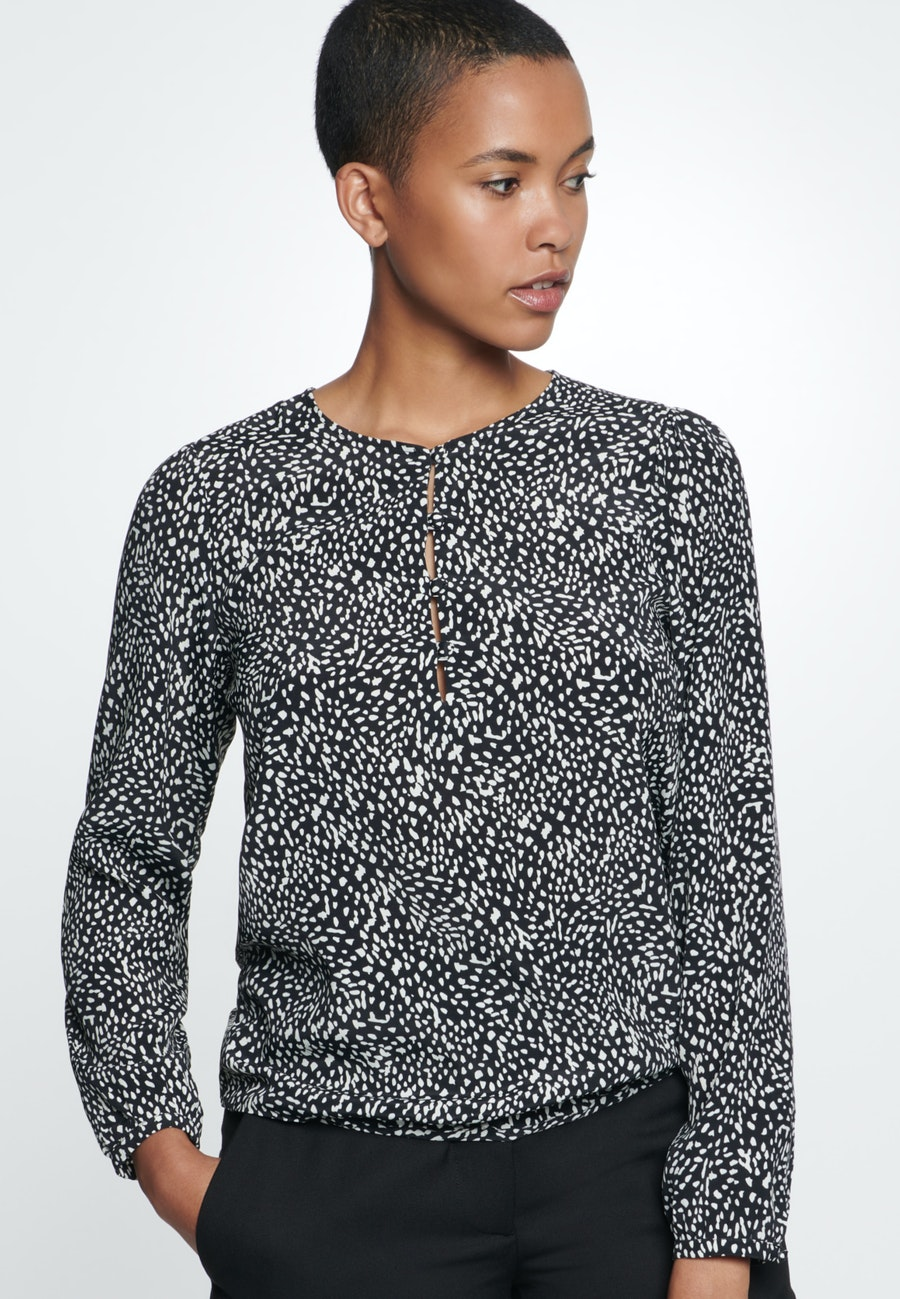 Krepp Shirt Blouse made of 100% Viscose in Grey    Seidensticker Onlineshop