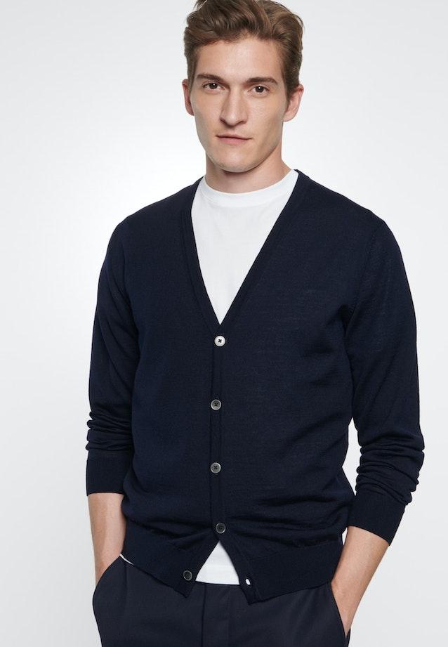 V-Neck Cardigan made of 100% Wool in Dark blue |  Seidensticker Onlineshop