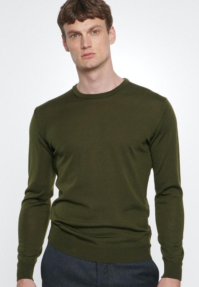 Crew Neck Pullover made of 100% Wool in Green |  Seidensticker Onlineshop