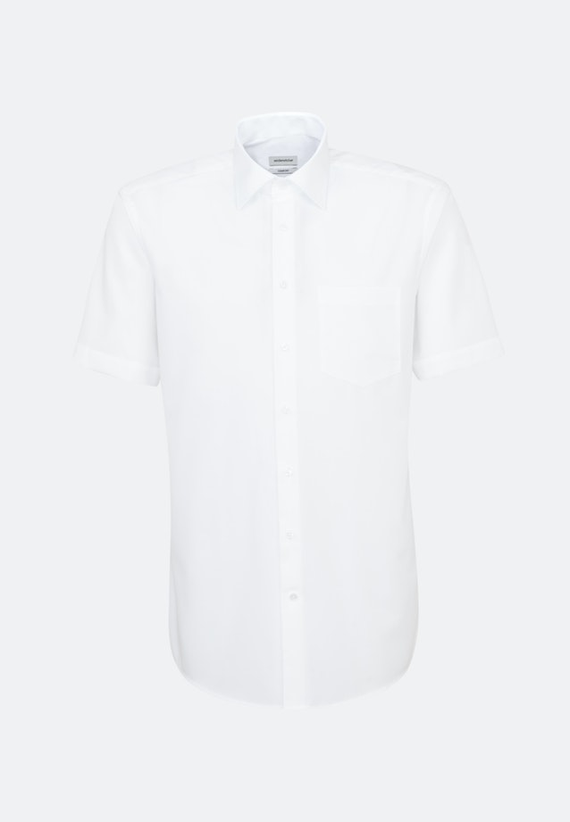 Non-iron Popeline Short sleeve Business Shirt in Comfort with Kent-Collar in White |  Seidensticker Onlineshop