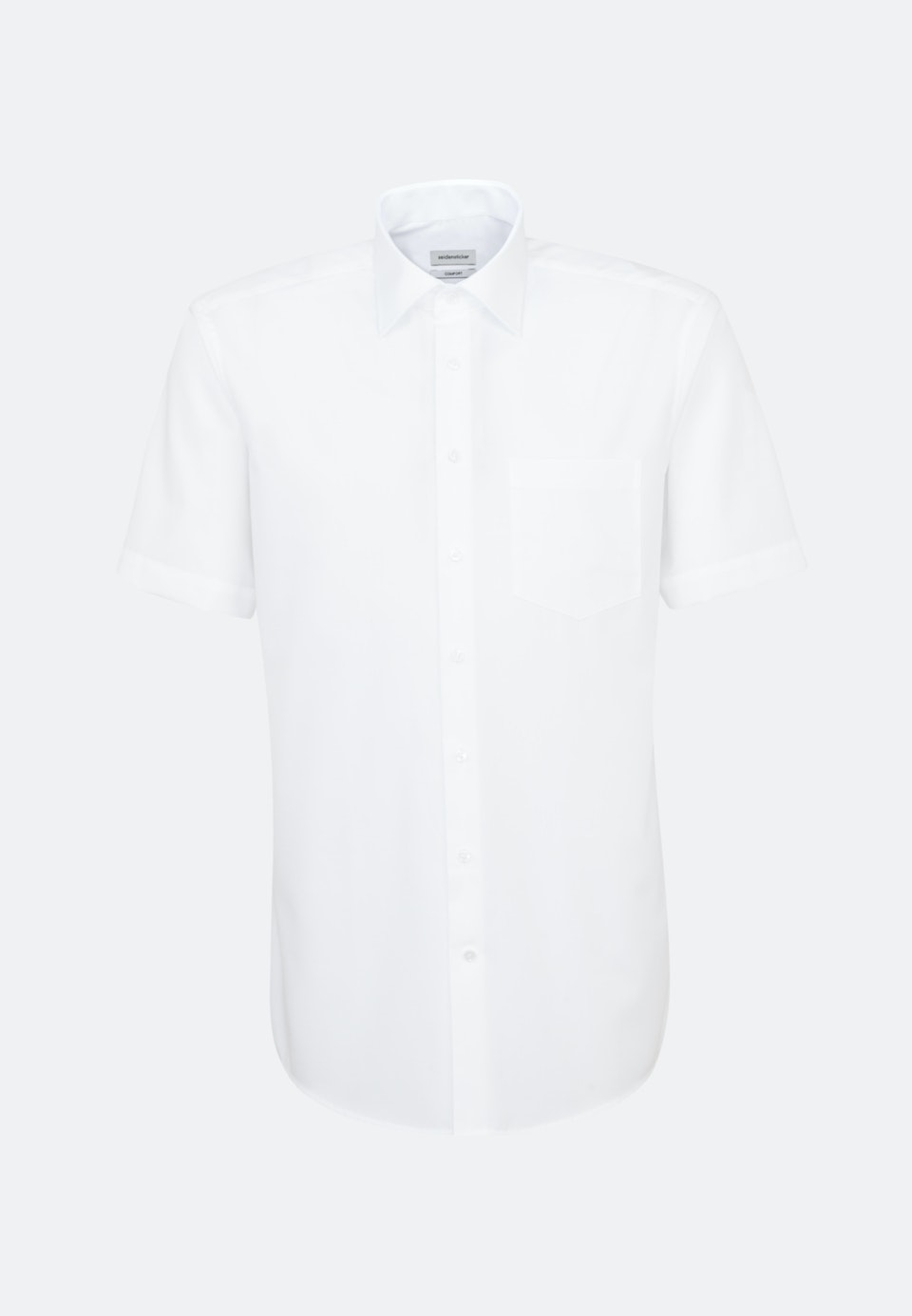 Non-iron Popeline Short sleeve Business Shirt in Comfort with Kent-Collar in White |  Seidensticker Onlineshop