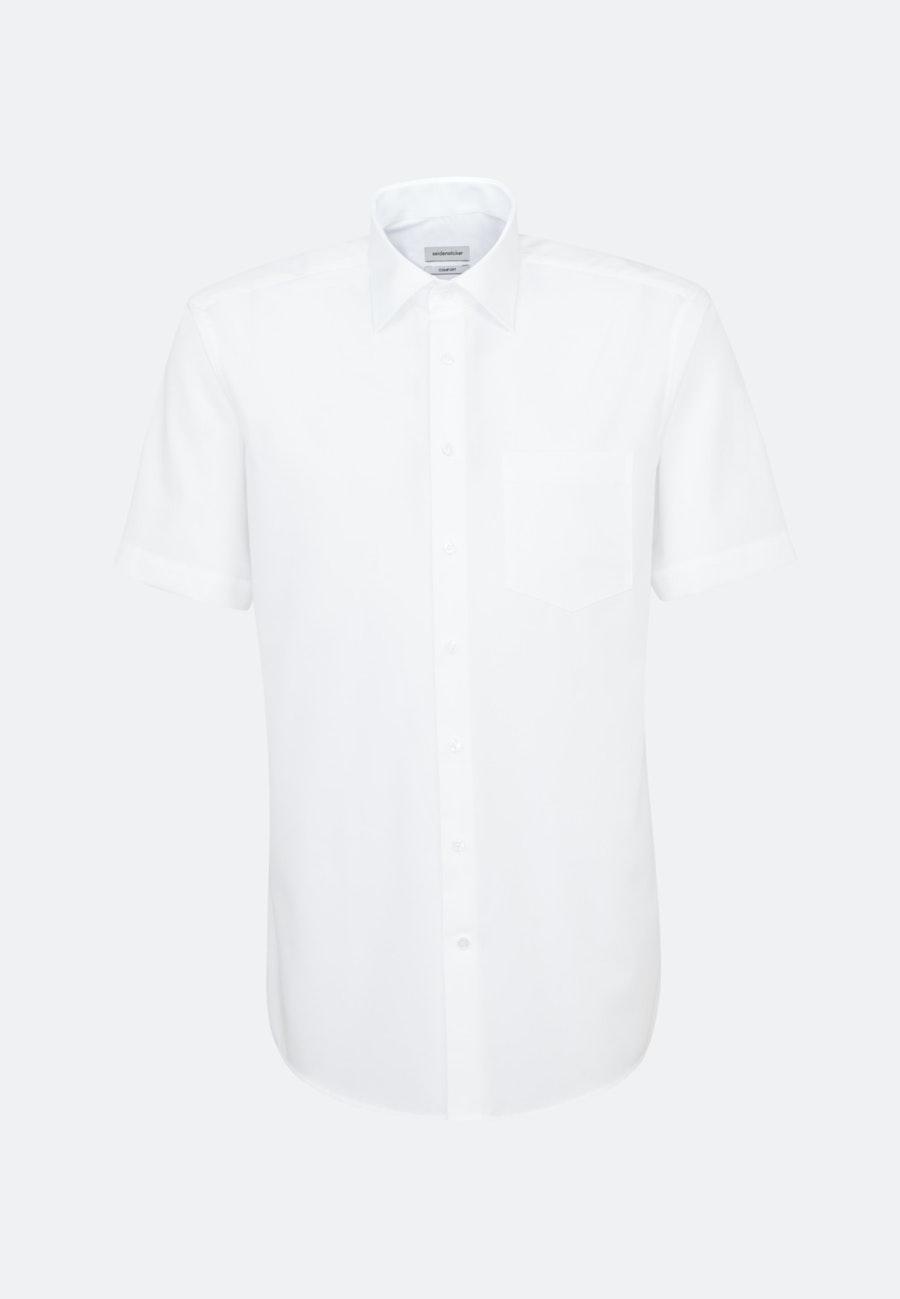 Bügelfreies Popeline Kurzarm Business Hemd in Comfort mit Kentkragen in Weiß |  Seidensticker Onlineshop
