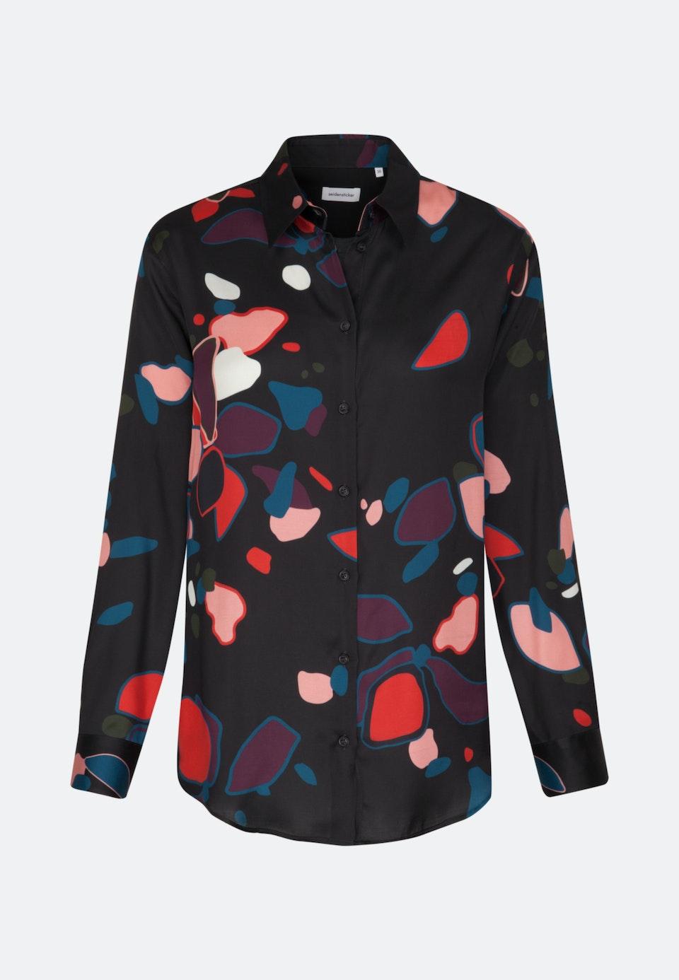 Satin Shirt Blouse made of 100% Viscose in Grey |  Seidensticker Onlineshop