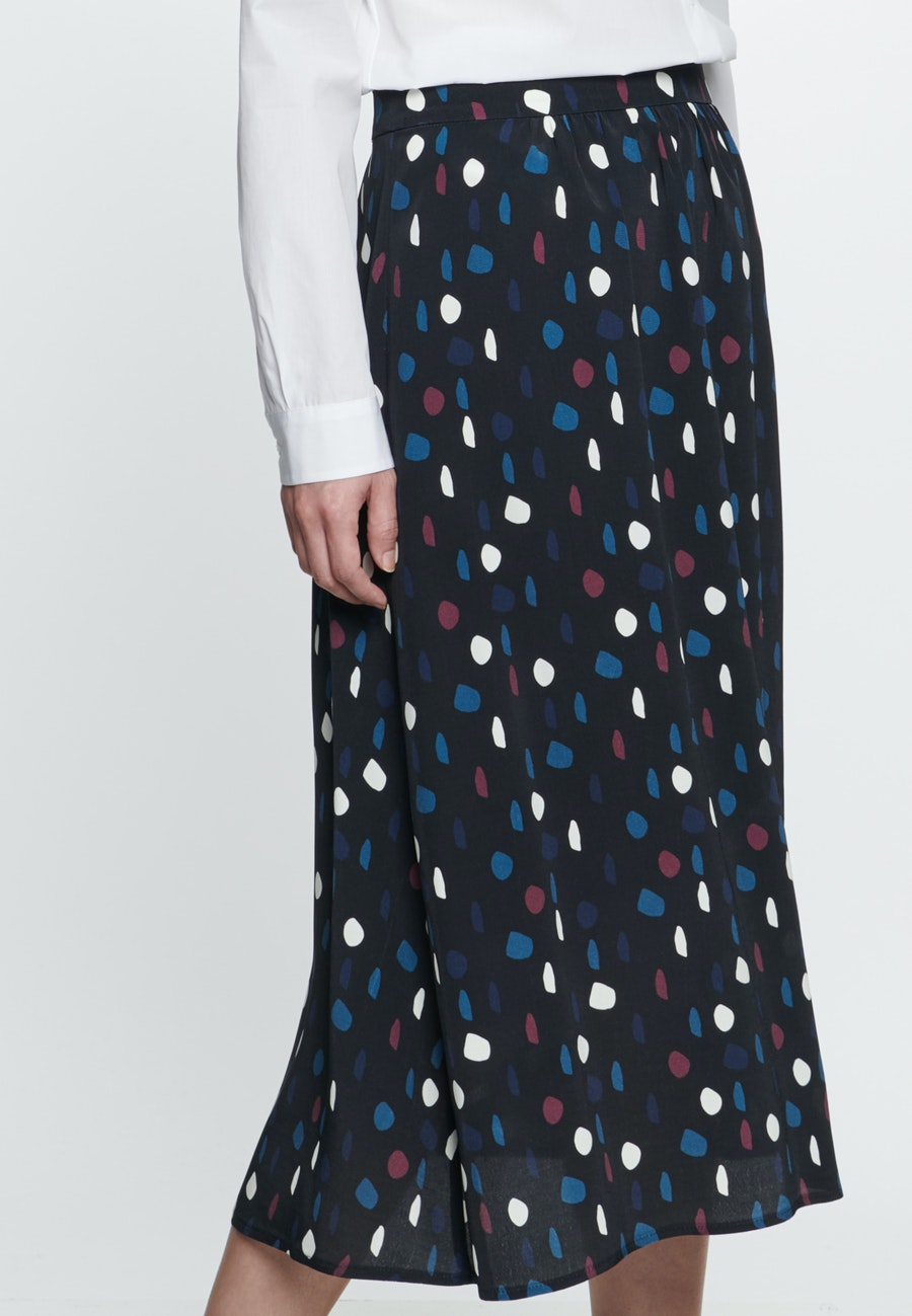 Chiffon Midi Skirt made of 100% Viscose in Grey |  Seidensticker Onlineshop