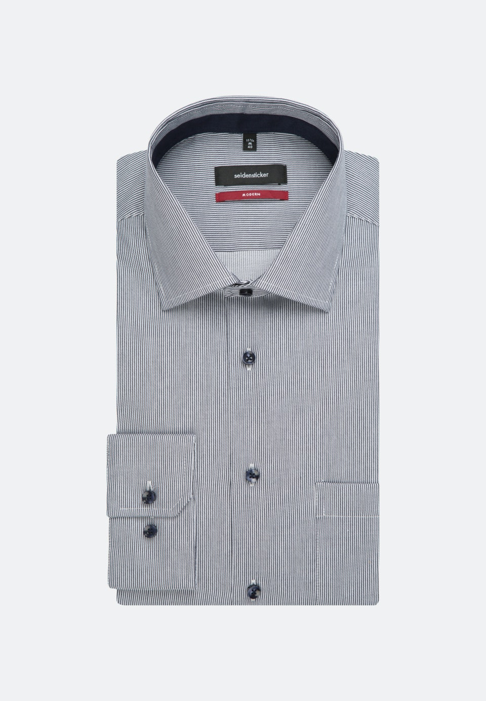 Bügelfreies Twill Business Hemd in Regular mit Kentkragen in Dunkelblau |  Seidensticker Onlineshop