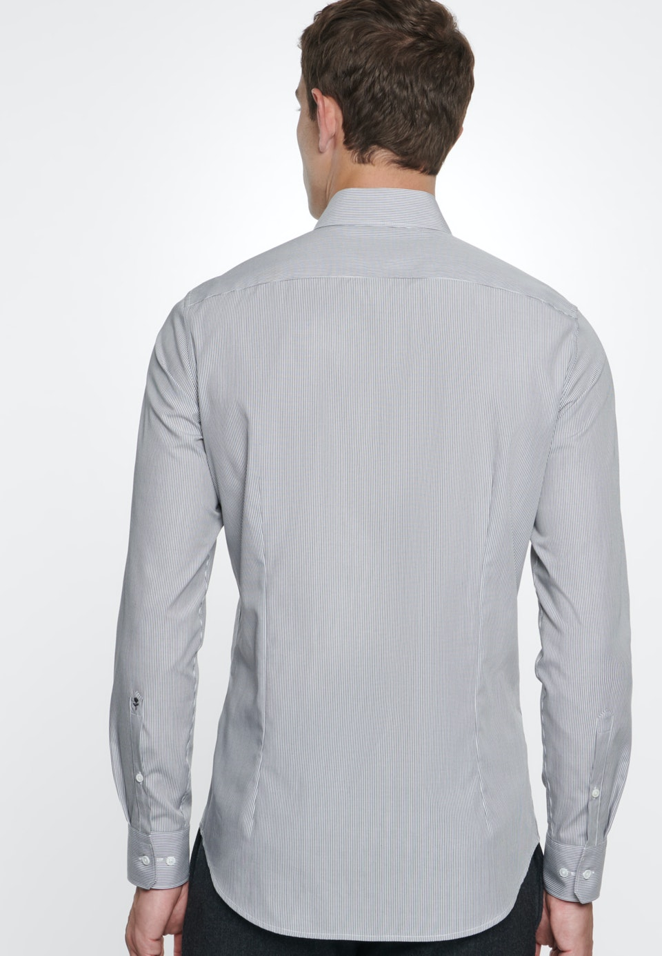 Easy-iron Popeline Business Shirt in Slim with Kent-Collar in Grey |  Seidensticker Onlineshop