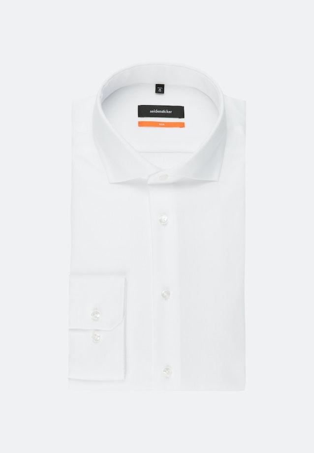 Bügelleichtes Fischgrat Business Hemd in Slim mit Kentkragen in Weiß |  Seidensticker Onlineshop