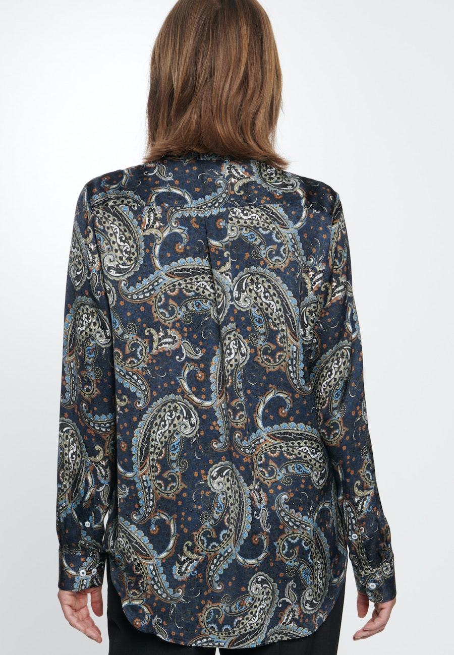 Voile Hemdbluse aus 100% Viskose in Dunkelblau    Seidensticker Onlineshop