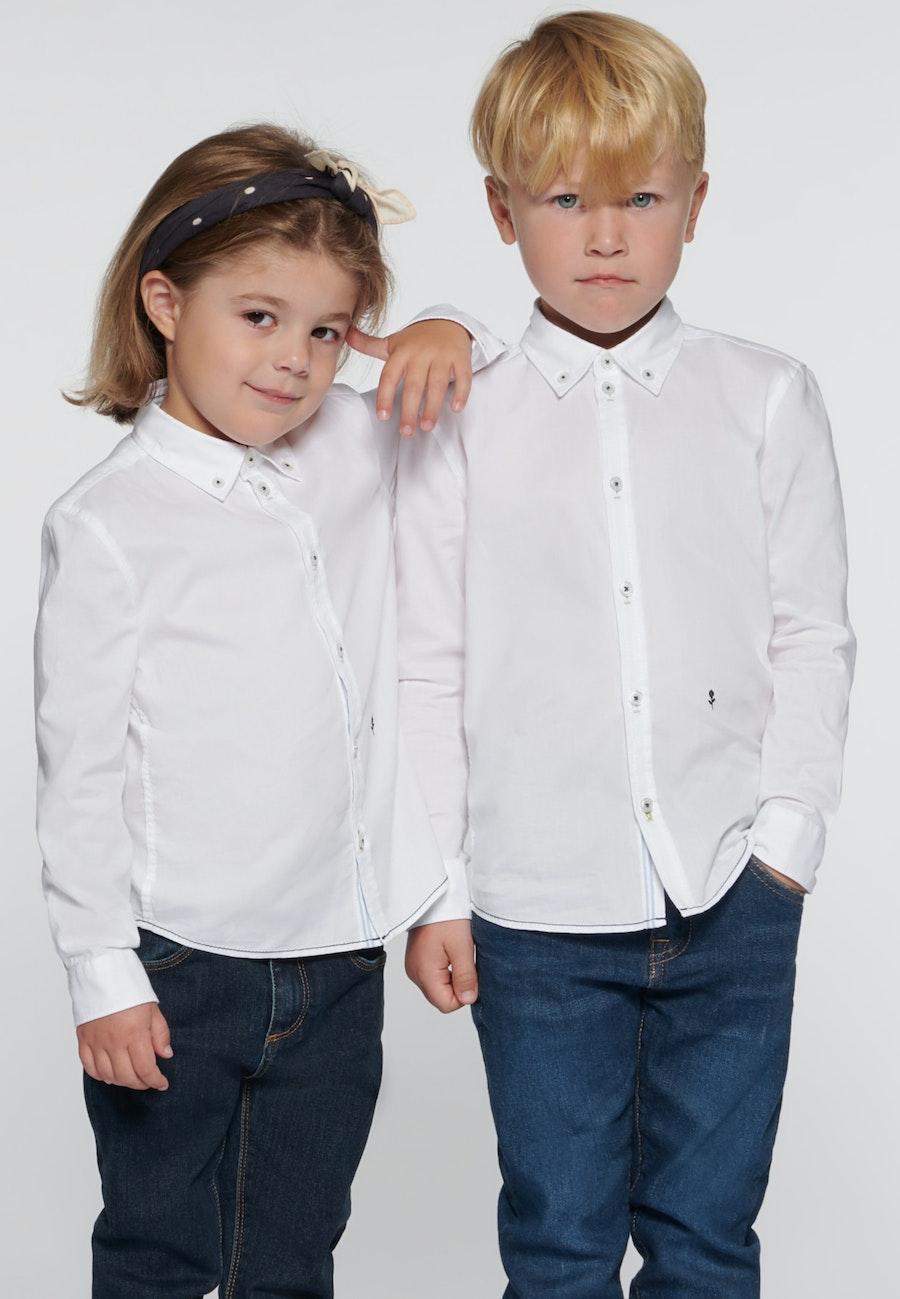 Kinderhemd Uni in Weiß |  Seidensticker Onlineshop