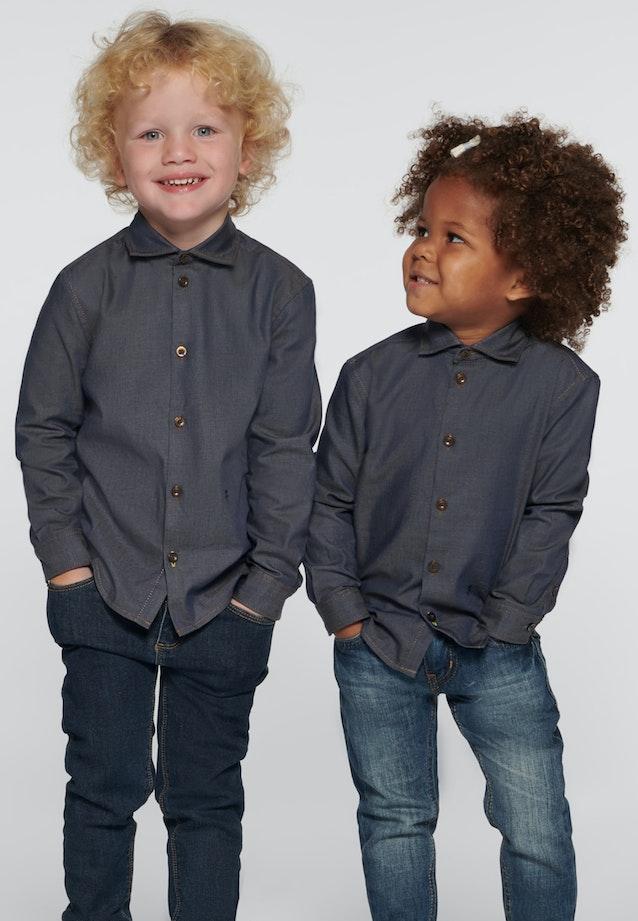 Kinderhemd Uni in Dunkelblau |  Seidensticker Onlineshop