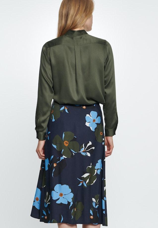 Twill Midi Skirt made of 100% Viscose in Dark blue |  Seidensticker Onlineshop